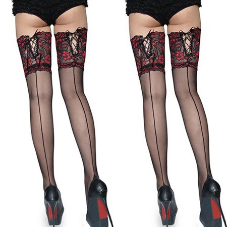 Fashion Ladies Tights Stay Up Thigh High Stockings Lace Top (Stay Hip Tights)