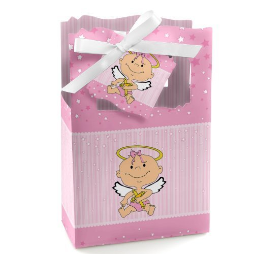 Angel Baby Girl - Baptism Party Favor Boxes - Set of 12