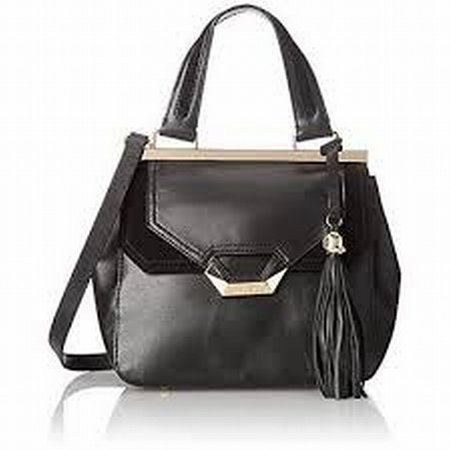 Dolce Vita - NEW Black Glazed Leather Tassel Charm Messenger Bag Purse -  Walmart.com ef26db1c44427