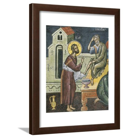 Christ Washing the Feet of the Apostles, 16th Century Framed Print Wall Art