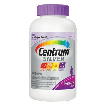 Centrum Silver Women 50  Multivitamin  Tablets   200 Ea  2 Pack