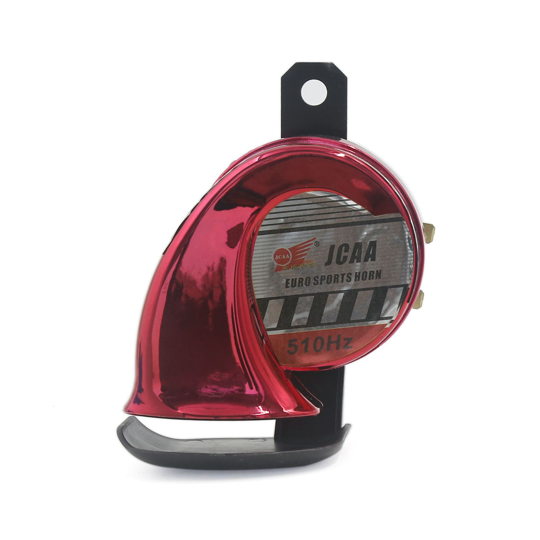 Unique Bargains Universal Motorcycle Boat Truck Red Snail Style Siren Electric Horn 510Hz 110dB