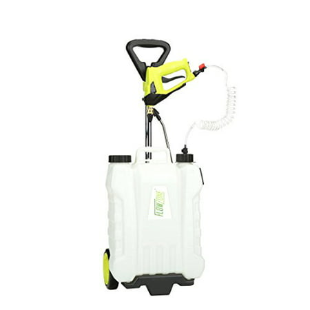 FlowZone® Shower™ 4-Gallon Multi-Use Continuous-Pressure Backpack & Rolling Lithium-Ion Sprayer