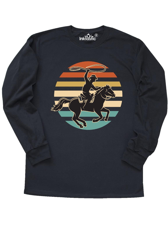 New Mens Unisex Sweatshirt Rodeo Western Cowboy  Ash