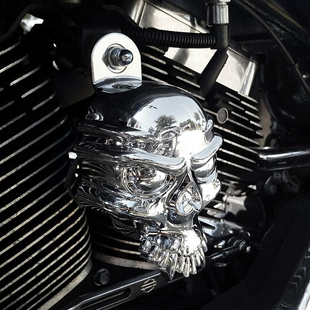 i5 Chrome Horn Cover for Harley Davidson
