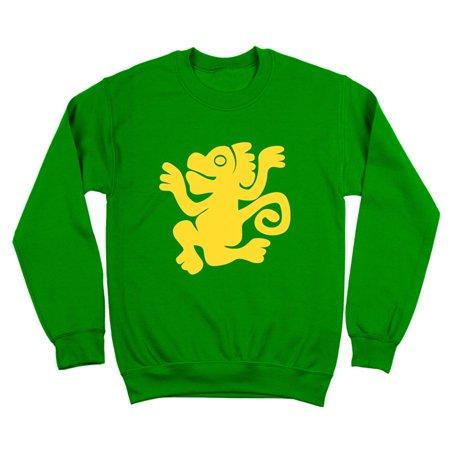 10 Ounce Crewneck Sweatshirt - Green Monkeys Team Costume Small Green Crewneck Sweatshirt