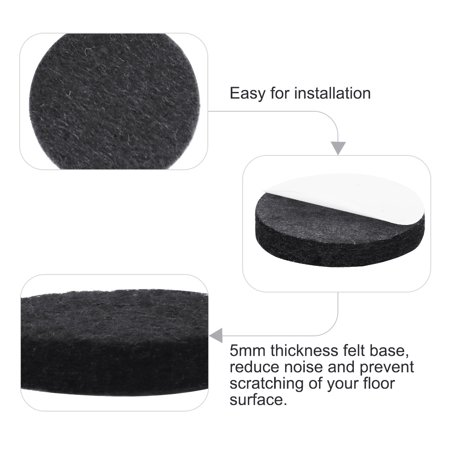 "Furniture Felt Pads Round 1 3/4"" Anti-scratch for Furniture Closet Black 32pcs - image 1 de 7"