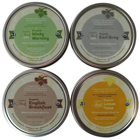 Heavenly Tea Leaves Organic Black Tea Sampler, 4 Count ()