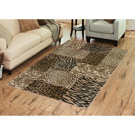 Cheetah Animal Print Rug - Better Homes and Gardens Animal Patchwork Rug