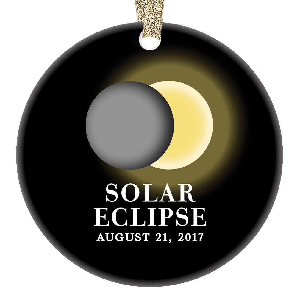 Solar Eclipse 2019 Christmas Ornament Solar Eclipse Ornament August 21 2019 North America Total Partial