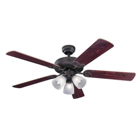 Westinghouse 7207900 Vintage 3 Light 5 Blade Hanging Ceiling Fan with (23 Beckwith 5 Blade Ceiling Fan With Remote)