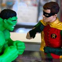 LAMINATED POSTER Comic Comic Book Incredible Hulk Super Hero Robin Poster Print 24 x 36