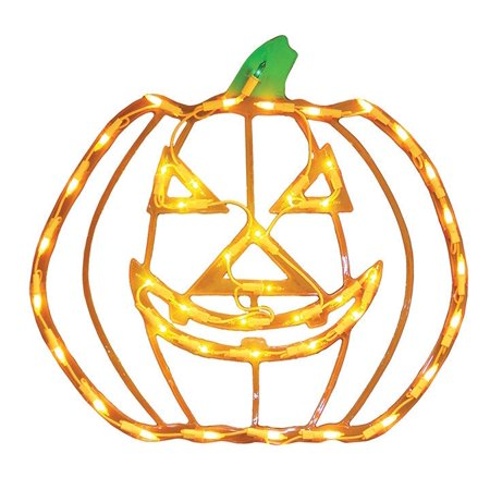 Halloween Lighted Ornamental Silhouette 14x17 - Jack, Frightfully fun lighted window decoration, jack-o-lantern measures approximately 14 x 17 -Inch and suitable for.., By Impact Innovations