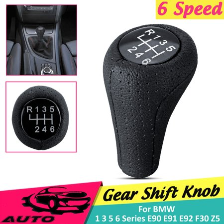 5 / 6 Speed PU Leather Gear ShiftKnob Shifter Manual Transmission For BMW 1 3 5 6 Series E90 E91 E92 F30 Z5 F20 M3 M4 M5 X5 X6 Universal 6 Speed Transmission Gear Set