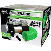 Slime-Heavy Duty Portable 12 Volt Tire Inflator with Built-in Gauge and Light-Direct Drive Design