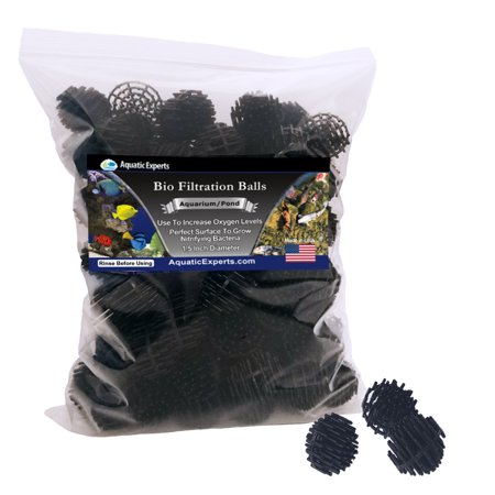 Bio Ball Filter Media - 100 Count - 1.5 In Large - Perfect for Aquarium Filtration