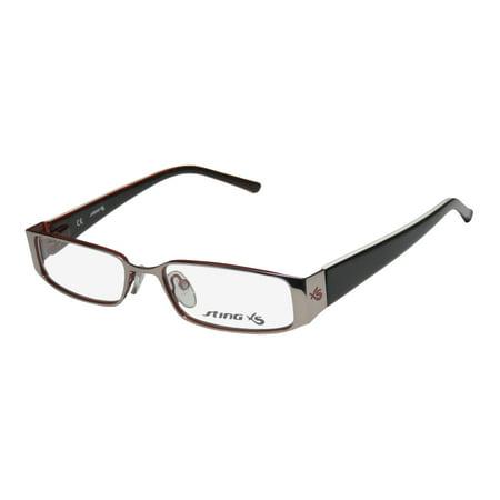 New Sting Vsj371 Mens/Womens Designer Full-Rim Gunmetal / Black / Multicolor Signature Emblem Durable Stylish Frame Demo Lenses 49-15-135 Flexible Hinges (Sting Glasses Website)