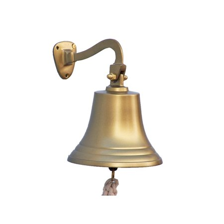 - Antique Brass Hanging Ship's Bell 11