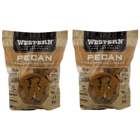 (2 pack) Western Premium BBQ Products Pecan Cooking Chunks, 570 CU. IN. Home Adult Chunks
