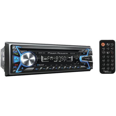 Power Acoustik PCD-51B Single-DIN In-Dash Digital Audio Receiver (Bluetooth, Detachable Face) ()