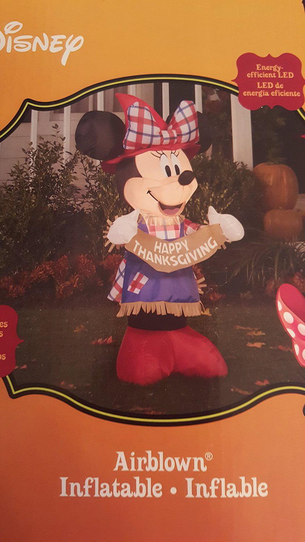 Minnie Mouse Scarecrow Airblown Inflatable Thanksgiving Yard Art Lawn Decoration Walmart Com Walmart Com