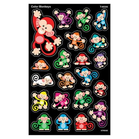 Tendance Enterprises Inc. T-46326 Couleur Singes supershapes Stickers Grand - image 1 de 1
