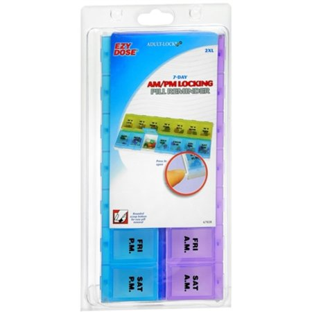 Locking Pill Reminder (Ezy-Dose Adult-Lock 7-Day AM/PM Locking Pill Reminder 2XL #67828 1 Each )