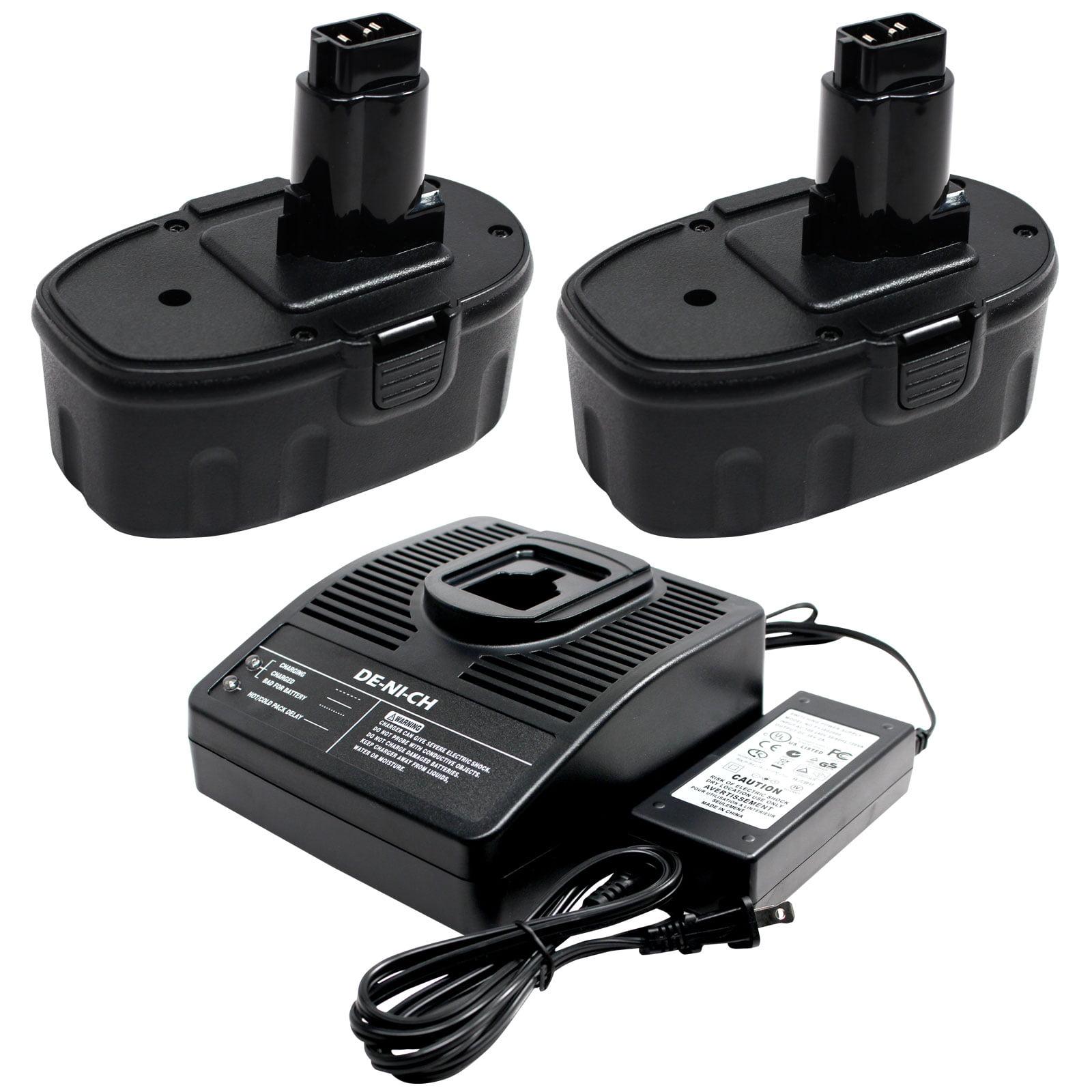 UpStart Battery 2-Pack DeWalt 18V Battery + Charger Repla...
