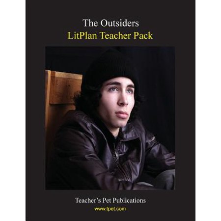 Litplan Teacher Pack : The Outsiders Essentially a complete teacher's manual for the novel, this LitPlan Teacher Pack includes lesson plans and reproducible resource materials for The Outsiders by S.E. Hinton. It includes: Daily Lessons, Short answer study questions, Multiple choice quiz questions, Vocabulary worksheets for each reading assignment, 3 detailed writing assignments, Individual and group activities, Critical thinking discussion questions, 5 unit tests (2 short answer, 2 multiple choice, 1 advanced), Evaluation forms, Review puzzles & games, Bulletin board ideas, Reproducible student materials, and more!