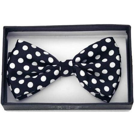 Dots Neckwear (Black White Polka Dots Tuxedo Classic Bow Tie Neckwear Adjustable Men's Bow)