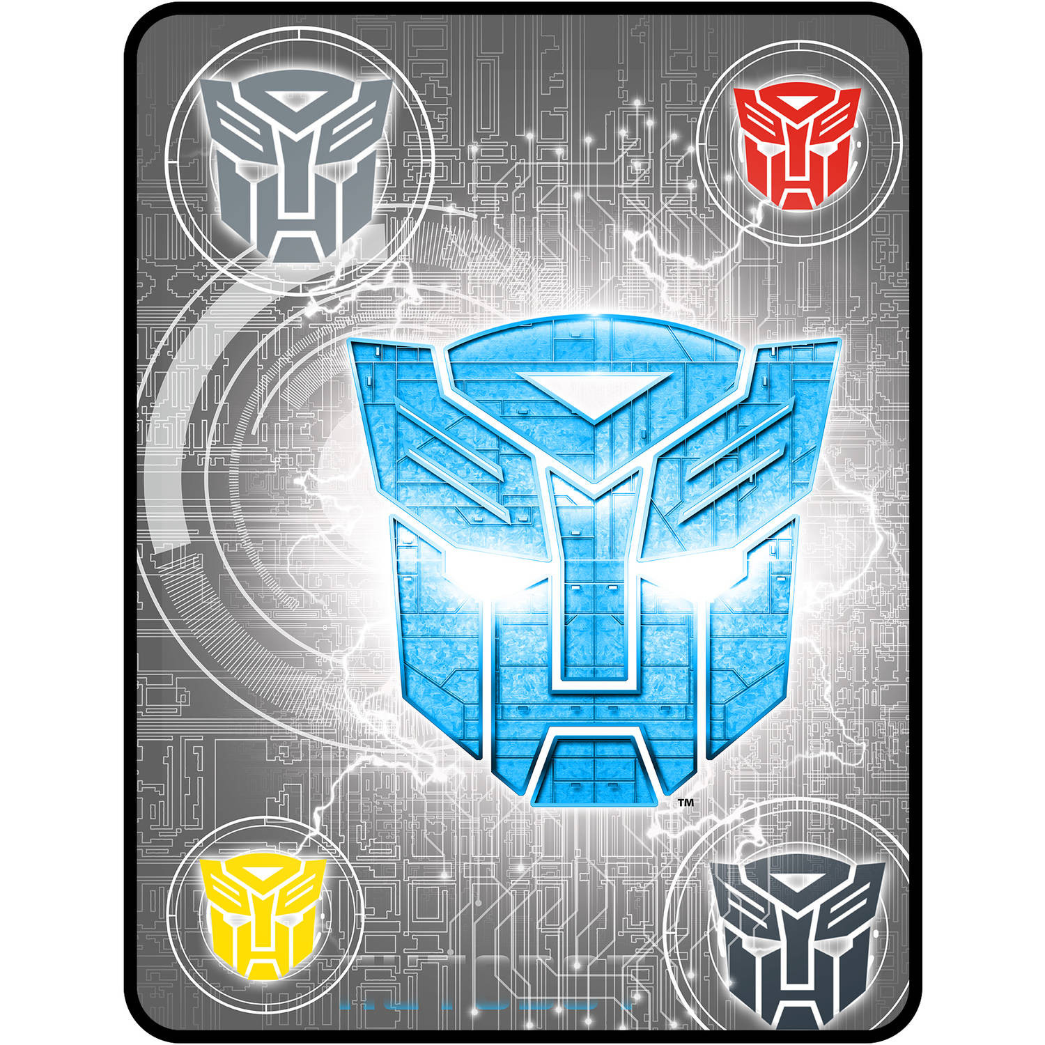 "Transformers Steel Heroes Kids Plush 46"" x 60"" Throw, 1 Each"
