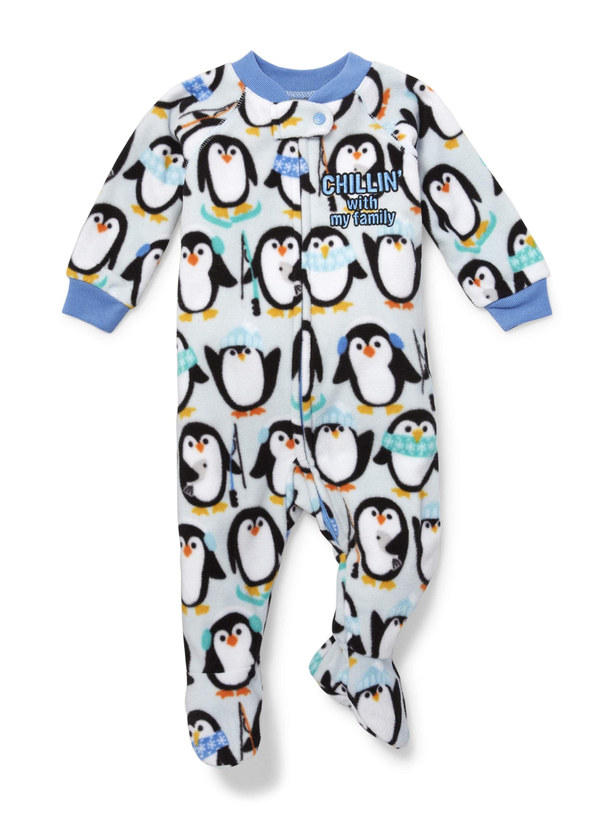 Long Sleeve Penguin Footed Blanket Sleeper (Baby Boys & Toddler Boys)