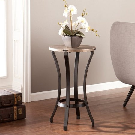 Southern Enterprises Libson Round Accent Table in Blackwashed Gold - image 6 of 6