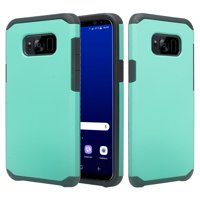 SOGA [Astro Guard Series] Hybrid Duo Armor Cover Protector Case for Samsung Galaxy S8 [Drop Protection] - Teal
