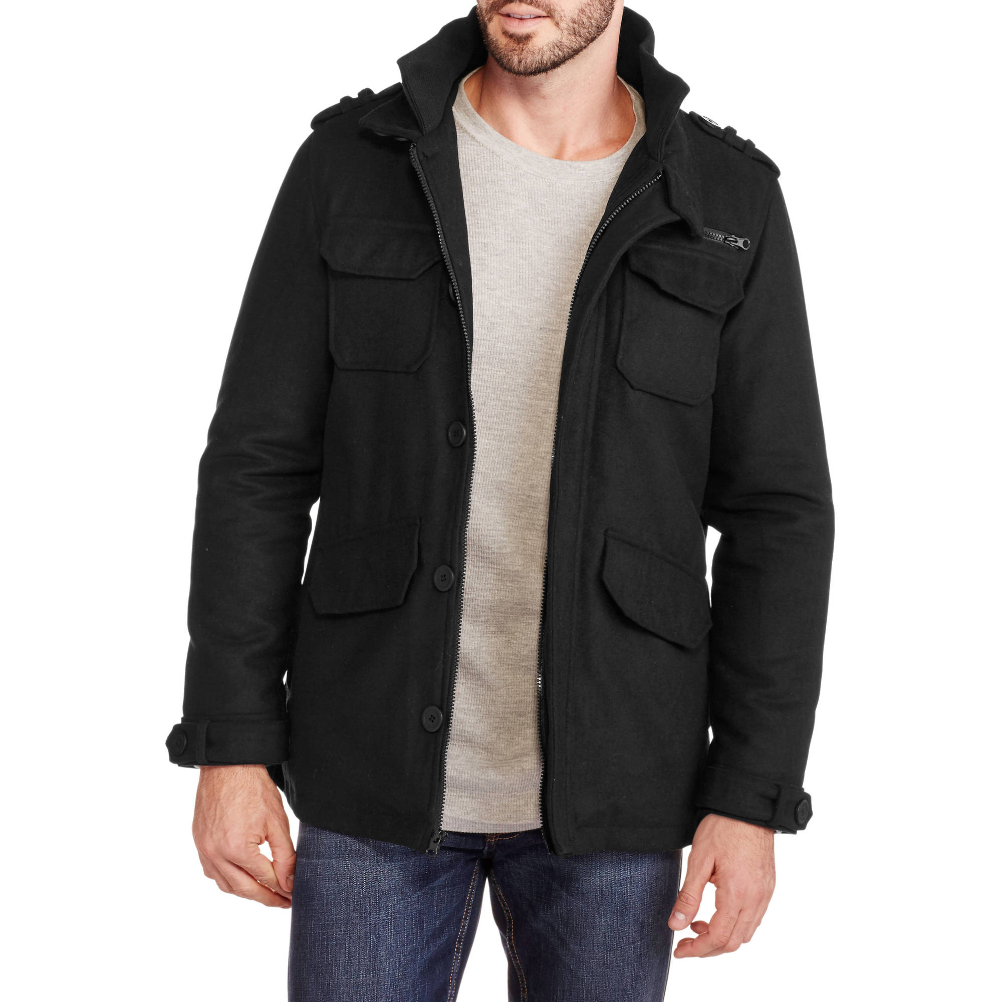 Men's Faux Wool Jacket
