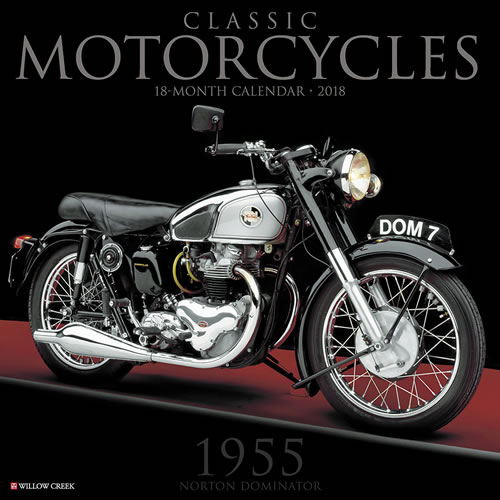 Willow Creek Press 2018 Classic Motorcycles Wall Calendar