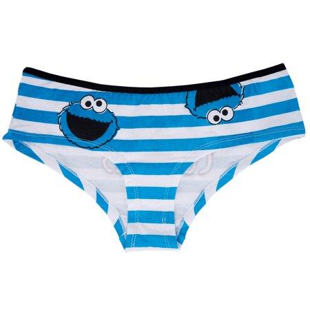 Cookie Monster Underwear Low Waist Panty Sesame Street Panties Intimates XS-XL - Sesame Street Cookies