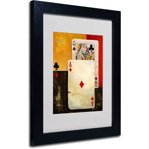 Trademark Fine Art 'Poker Queen' Matted Framed Art
