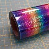 """Rainbow DecoSparkle 19"""" x 3' Iron on Heat Transfer Vinyl Roll, HTV"""