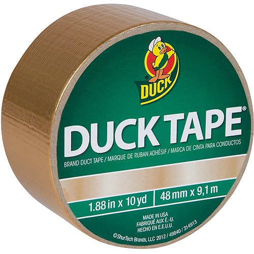 "Duck Brand Duct Tape, 1.88"" x 10 yard, Gold"