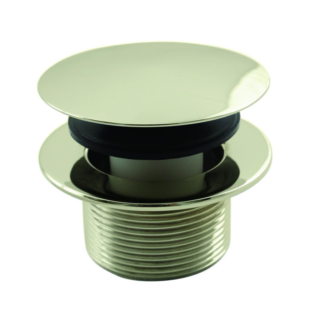 Westbrass Mushroom Tip Toe 1-1/2 in. NPSM Coarse Thread Bath Drain D398R in Polished Brass