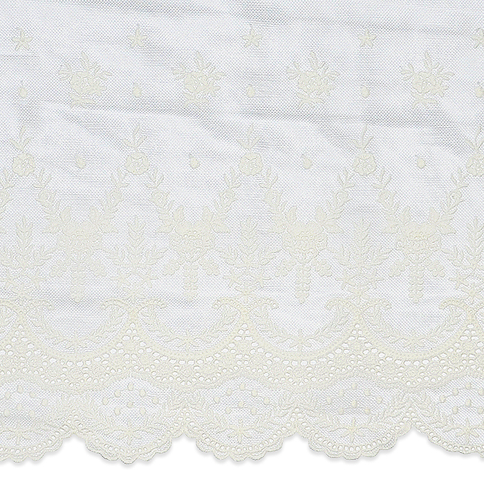"Expo Int'l 2 yards of Larissa 10 1/2"" Laurel Leaf Scalloped Lace Trim"