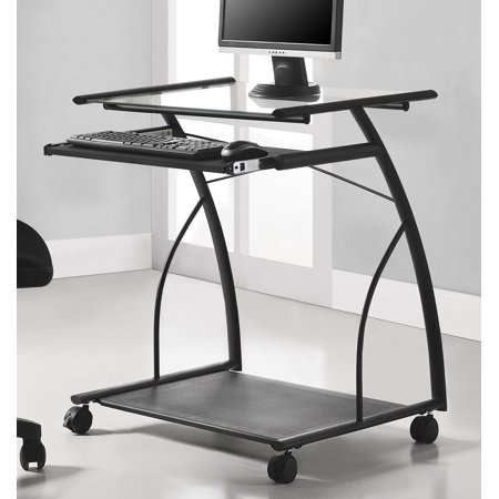 Altra Sheldon Mobile Computer Desk  Black