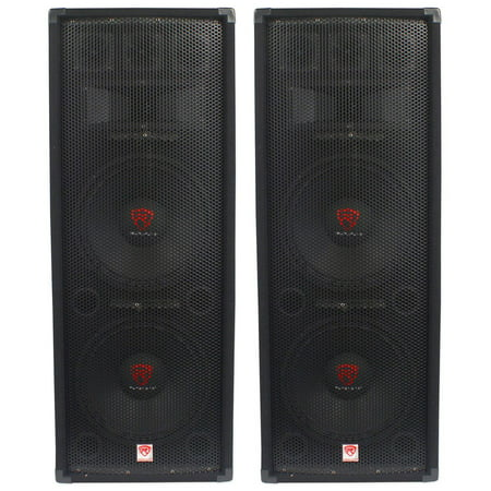 "(2) Rockville RSG12.28 Dual 12"" 2000 Watt 8-Ohm Passive Pro Audio PA"