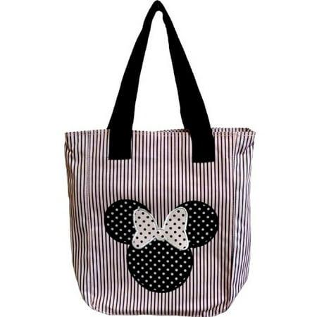 Fashion Polka Dot Tote - Disney Polka Dot Stripe Minnie Tote Pink