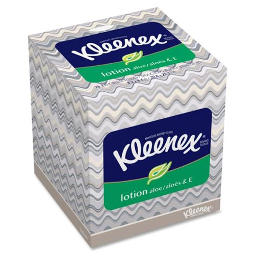 Kleenex Soothing Lotion Tissue - 3 Ply - 75 Sheets Per Box - 27 / Carton - White (25829ct)