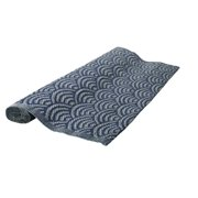 4' x 6' Seaside Treasures Storm Gray and Navy Blue Outdoor Patio Area Rug