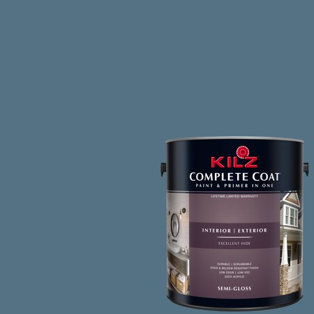 KILZ COMPLETE COAT Interior/Exterior Paint & Primer in One #RD130-02 Iron