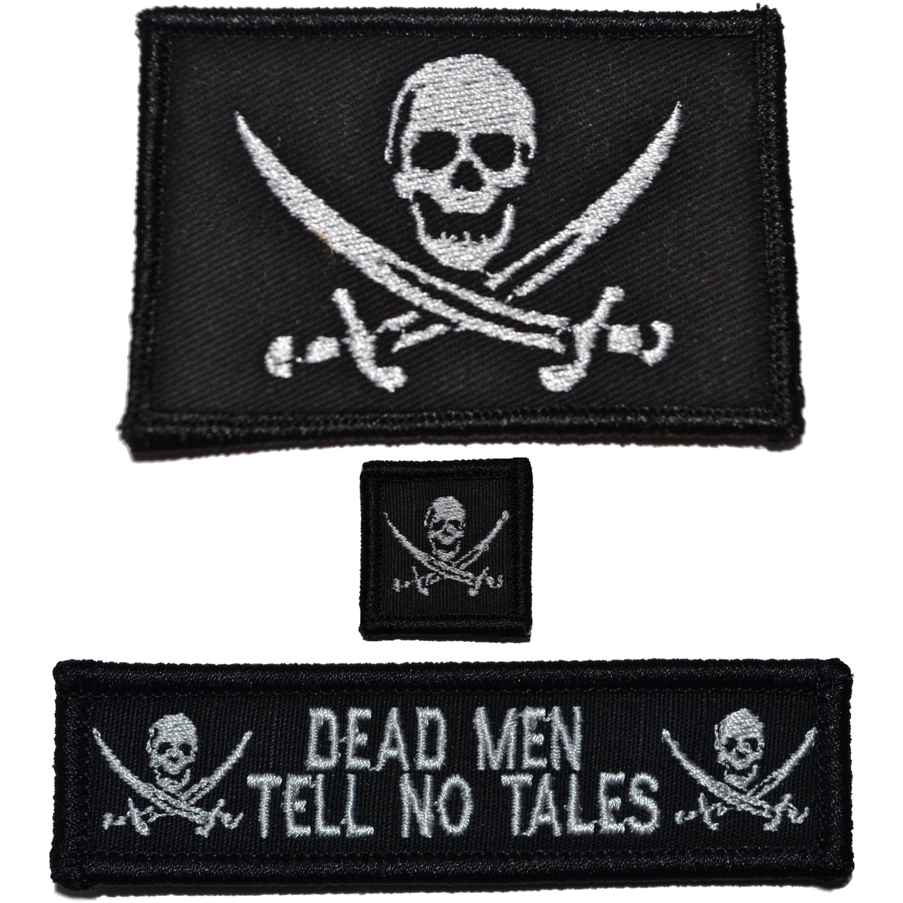 Patch Set: Pirate Jolly Roger 2x3, Dead Men Tell No Tales 1x3.75, Jolly Roger 1x1