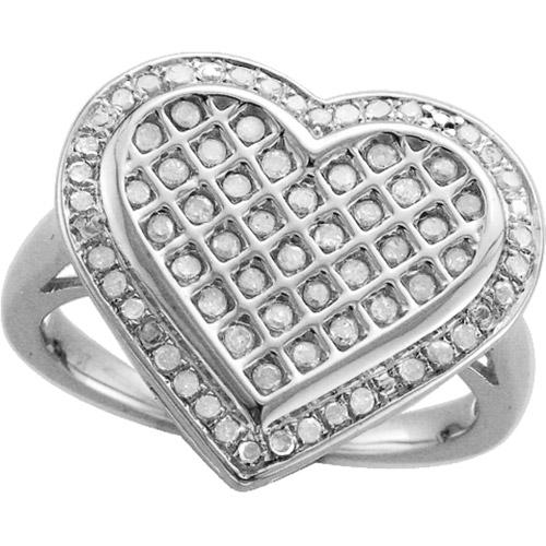 1/2 CT. T.W. Diamond Lattice Heart Ring